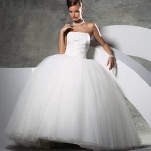 Princess style wedding dress cleaning